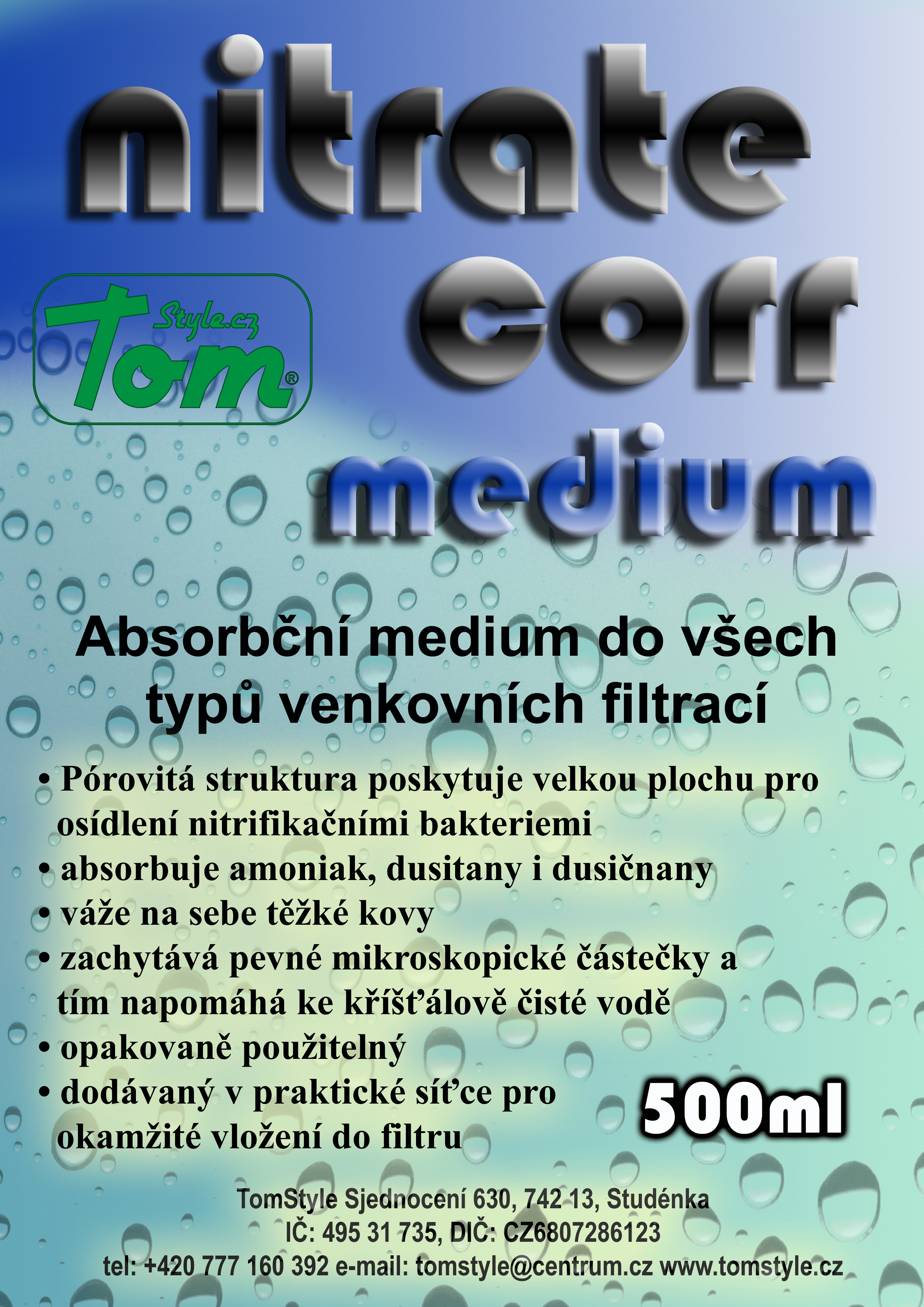 Tomstyle.cz nitrate corr medium 500ml