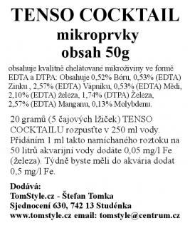 Tomstyle.cz Tenso Coctail - 50g - mikroprvky