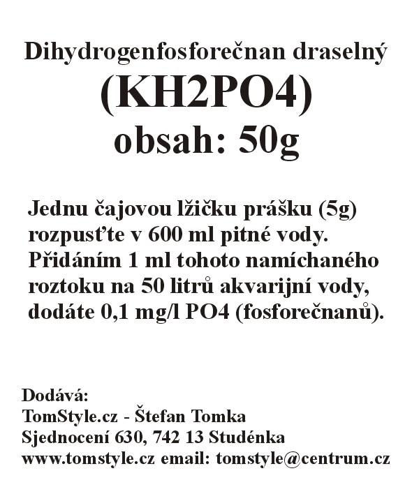 Dihydrogenfosforečnan draselný  (KH2PO4) (obsah: 50g)