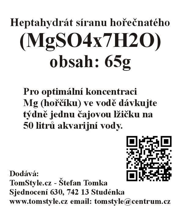 Heptahydrát síranu hořečnatého (MgSO4x7H2O) (obsah: 65g)